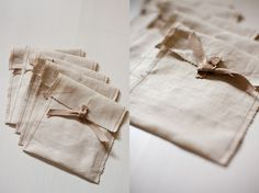 Organic Linen Sleeves. perfect for a wedding