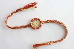 Perfect for fall / Fall Colors / Tuscan Dreamcatcher Bracelet by ItDoesntMatterInk on Etsy