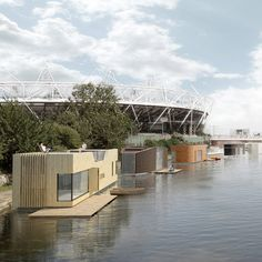 Image 1 of 14 from gallery of 100 Ideas for Solving London's Housing Crisis, According to New London Architecture. Innovation License by Baca Architects. Image Courtesy of New London Architecture Floating Architecture, Water Architecture, London Architecture, Architecture Images, Architecture Courtyard, Architecture Wallpaper, Interior Architecture, Bali House, London Property