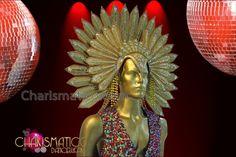 Charismatico Dancewear Store - CHARISMATICO Exotic Falcon Styled Gold Glitter…