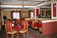 Try our on site restaurant Hugo's for italian cuisine, steak and seafood! Steak And Seafood, Bbq Area, Relax, Restaurant, Table, Room, Furniture, Home Decor, Diner Restaurant