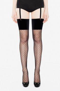 Velvet June luxury fabric stockings by Amoralle