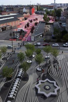 Conheça o Projeto Superkilen que transformou o centro de Copenhagen em um parque urbano