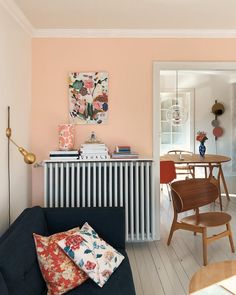 my scandinavian home: Hygge and a pink wall in a Danish home