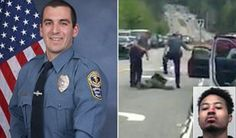 A white police officer has been fired after he was filmed stomping on the face of a black man while he was handcuffed on the ground. The video, taken by a motorist on his cellphone on Wednesday, shows the man being pulled out of a car by an officer, Sgt. M.F. Bongiovanni, who handcuffs him as he lie…