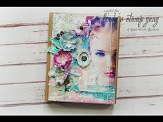 Mixed media cover tutorial - Marta Turska - Grochocka - YouTube