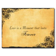 """Fav...so far for """"Save the Date""""  Vintage Style Love Quote Save the Date Postcard"""