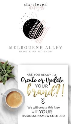 123  Melbourne Alley  LOGO Premade Logo Design Branding - SIX ELEVEN DESIGNS - Premade Logos on Etsy - Modern Branding Solutions for your business - Logos for your business, boutique or blog. Blogger header, Blog Header and social media. Photography Logos, Business Logos, Boutique Logos, Shop Logos, Brand Logos.
