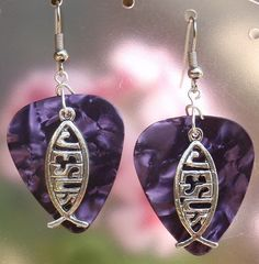 Jesus Fish Guitar Pick Earrings  Your by CraftyCutiesbyDesign, $6.00
