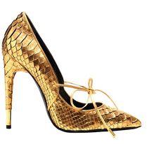 Gold shoe delight!