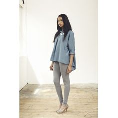 The Super Soft Maternity Legging in Mid Grey