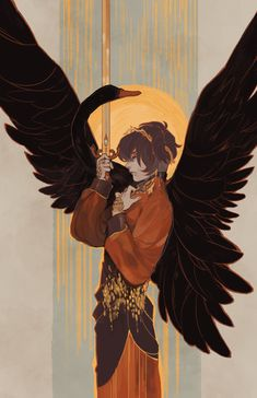 "Cacologies - shounen-shoujos: not exactly new art but. ""The Black Swan"" Art And Illustration, Fantasy Male, Heros Film, Character Inspiration, Character Art, Bel Art, Art Watercolor, Art Anime, Pretty Art"