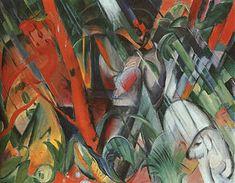 Nella Pioggia, di Franz Marc, 1912, Lenbachhaus
