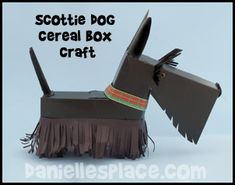 Scottie Dog Cereal Box Craft for Boo, but in white Puppy Valentines, Valentine Day Boxes, Homemade Valentines, Valentine Crafts, Valentine Ideas, Animal Art Projects, Animal Crafts, Dog Crafts, Crafts For Kids
