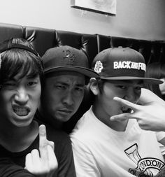 Tablo (타블로) & Mithra Jin (미쓰라 진) of Epik High (에픽하이) with Zico (지코) of Block B (블락비)