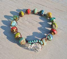 colorful crochet bracelet