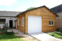 Garage par labricole28 - Ayant pris une partie garage pour agrandir mon atelier, j'ai refait un garage à l'avant  40 m² environs   Charpente en douglas bardage en mélèze