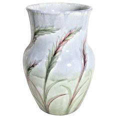 Art Deco Era William Moorcroft Wavy Corn Art Pottery Vase