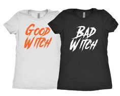 Good Witch | Bad Witch - Ladies, Tri Blend T Shirt - Halloween T Shirt