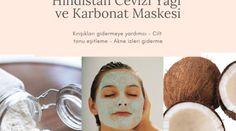 Hindistan cevizi yağı ve Karbonat Maskesi - Ne Nasıl Temizlenir Homemade Skin Care, Health, Masks, Health Care, Diy Skin Care, Salud