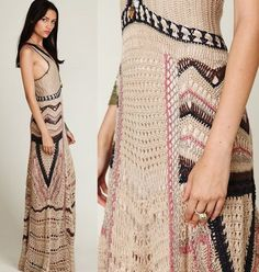 Free People Eighty Stages Crochet Beach Cover up Maxi Dress