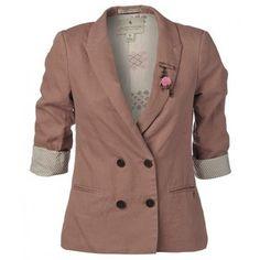 Maison Scotch Jacket, Rose Double Breasted Boyfriend Blazer