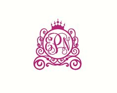 Initials For Car Vine Monogram Car Decal With Bow Car Monogram - Monogram decal on car