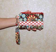 Geisha Fans and Full Moon Polka Dot  Wristlet Purse by RKEMdesigns, $15.95