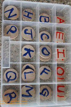 DIY Montessori alphabet