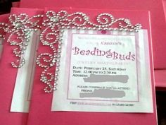 22 best invitation ideas from past beading buds birthday parties invitation made by a 10 year old girl in toronto ontario for her beading buds birthday party stopboris