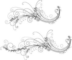 Foliate Filigree Royalty Free Stock Vector Art Illustration