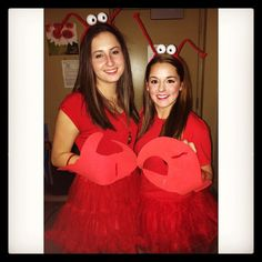Lobsters: Such a unique DIY Halloween costume to rock with your bestie this year.