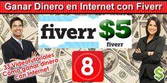 Fiverr es una página web que te permite ganar dinero vendiendo cualquier cosa que tenga un valor de hasta 5 dolares. Si tienes habilidades para algo y puedes c