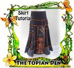 Skirt Tutorial PDF Instant Download E-Book Maxi Long Style | Etsy Cotton Textile, Textile Fabrics, Tunic Tutorial, Jumper Patterns, Sweater Refashion, Handmade Design, Unique Outfits, Flare Skirt, Jumpers