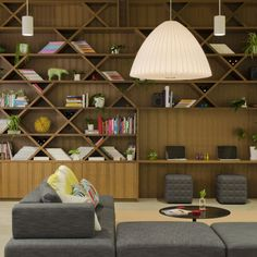 fool bookshelf at FINE Design Group Office by Boora Architects