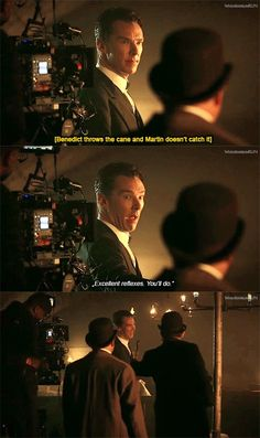 """Sherlock - Behind the scenes (OUTTAKE OF THE """"YOU'LL DO"""" SCENE)"""