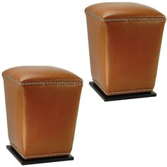 Safavieh Mason Bicast Leather Saddle Ottomans (Set of 2)   Overstock.com Shopping - The Best Deals on Ottomans  $207.14