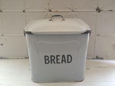 vintage enamel bread bin...