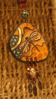 Gourd Art Jewelry by newseasondesigns on Etsy