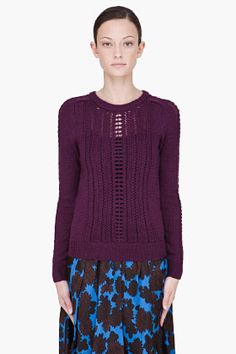 Marc By Marc Jacobs Plum Purple Merino Wool Daria Sweater for women | SSENSE