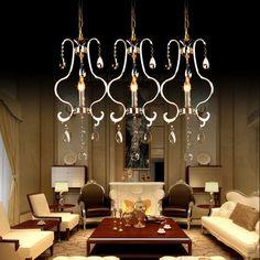 European Luxury Crystal Dining Room Pendant Lamp Bar Pendant Lamp Cafe Pendant Lamp