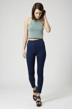 MOTO Indigo Blue Joni Jeans - Clothing- Topshop