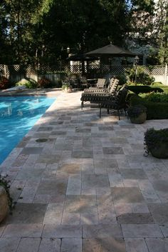 Patio idea - Love this stone! WANT THIS FOR BACKYARD! One day I really hope for a pool!