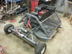 Home made trail cutter to pull behind atv