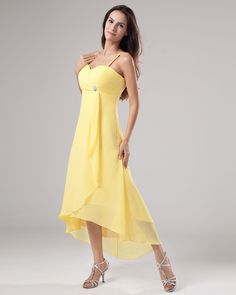 Yellow Chiffon Bridesmaid Dresses | fashjourney.com