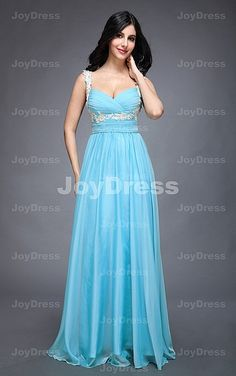 Appliques A-line Shoulder Straps Floor-length Dress