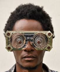 Kenyan artist Cyrus Kabiru's C-Stunners series of wearable eyewear sculptures blurs the boundaries between art, performance, fashion and design. Black Power, Kenyan Artists, Black Future, Post Apocalypse, Afro Punk, Afro Art, Dieselpunk, Headgear, Black People