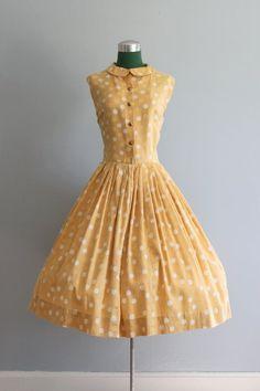 50s Polka Dot Dress. Pure sunshine.