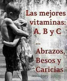 The best vitamine A, B and C: Abbracci (hugs), Baci (Kisses), Carezze (Caresses). Italian Phrases, Italian Quotes, Quotes En Espanol, Frases Humor, Spanish Quotes, Wise Words, Positive Quotes, Quotations, Me Quotes