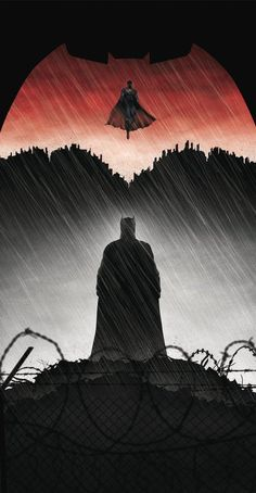 So Nobdy praised Zaddy for the subtle Metaphor that Batman v Superman is a retelling of the David vs Goliath story arc? Just with weird nightmares Wonder Woman and Jesse Eisenberg Batman V Superman Poster, Batman Artwork, Batman Wallpaper, Batman Arkham, Superman Black Suit, Dark Wallpaper, Dc Comics Superheroes, Marvel Dc Comics, Justice League Animated Movies